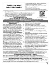 MVWB766FW Warranty EN