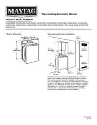 MVWC416FW Dimension Guide EN