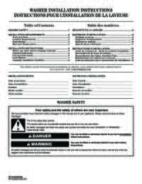 MVWC416FW Installation Instruction EN