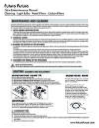 Care Maintenance Manual Cleaning Lights Filters