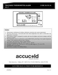 Traceable Thermometer Instructions