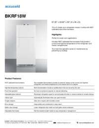 Brochure BKRF18W