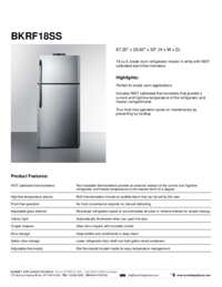 Brochure BKRF18SS