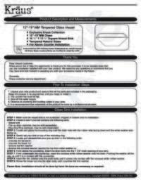 Sink Installation Manual
