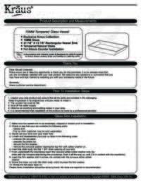 Rectangular  Glass Vessel Sink Installation Manual