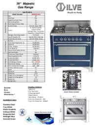 ILVE UM90FDVGG Specifications Sheet