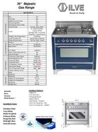 ILVE UM906DVGG Specifications Sheet