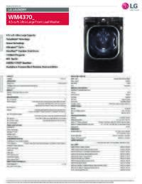 WM4370 Spec Sheet