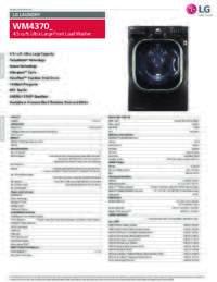WM4370 Spec Sheet