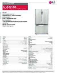 LFCS25426S Spec Sheet