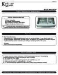 KHF203 36 Installation Manual