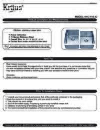 KHU105 32 Installation Manual