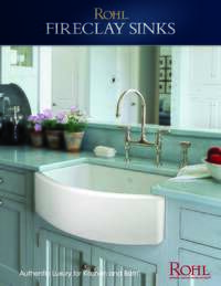 Rohl Fireclay Sink Spec Sheet