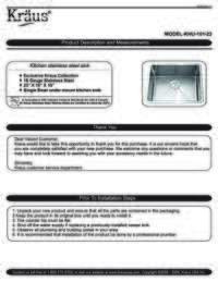 KHU101 23 Installation Manual