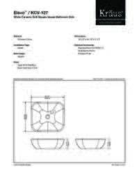 KCV127 Spec Sheet
