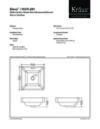 KCR281 Spec Sheet