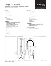 KPF2730 Spec Sheet