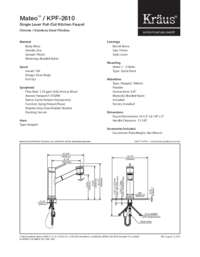 KPF2610 Spec Sheet