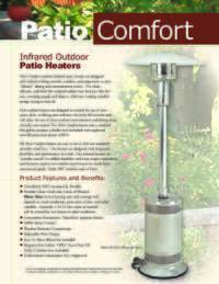 Patio Comfort Product Sheet