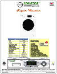Washer Specifications Sheet