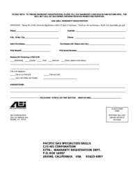 AEI PGS Owner Registration Card