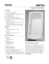 ABR784ST Spec Sheet