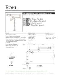 A1452 Spec Sheet