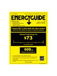 LSXC22326 Energy Guide Label