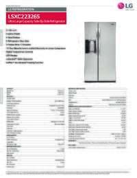 LSXC22326S Spec Sheet
