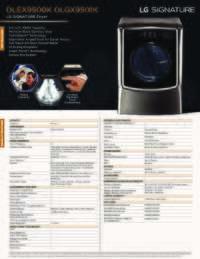 DLEX9500 DLGX9501 Spec Sheet