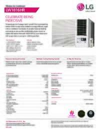 LW1816HR Spec Sheet