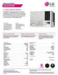 LW2416HR Spec Sheet