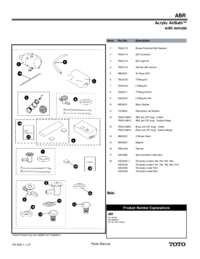 Acyrlic Airbath with Remote Parts Manual