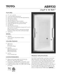 ABR930T Lloyd Spec Sheet