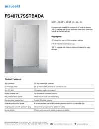 Brochure FS407L7SSTB
