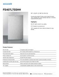Brochure FS407L7SSHH