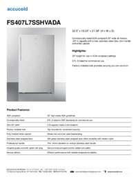 Brochure FS407L7SSHVADA