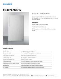 Brochure FS407L7SSHV