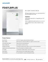 Brochure FS407LBIPLUS