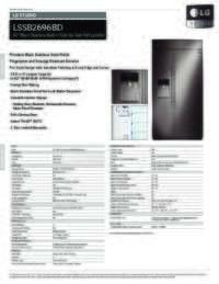 LSSB2696BD Spec Sheets