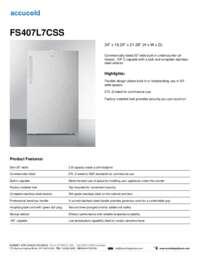 Brochure FS407L7CSS
