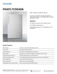 Brochure FS407L7CSSADA
