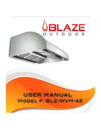 42 Inch Vent Hood User Manual