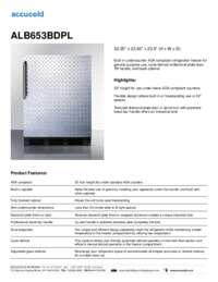 ALB653BDPL Specifications Sheet