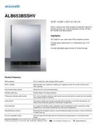 ALB653BSSHV Specifications Sheet