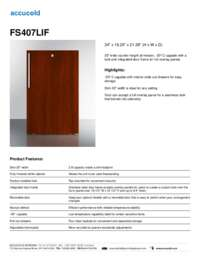 Brochure FS407LIF