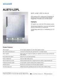 ALB751DPL Specifications Sheet