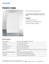 Brochure FS407L7ADA