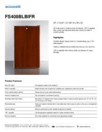 Brochure FS408BLBIFR
