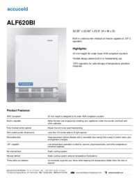 ALF620BI Specifications Sheet